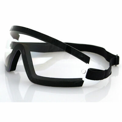 Bobster Wrap Around Goggles (Black Frame, Clear Lens)