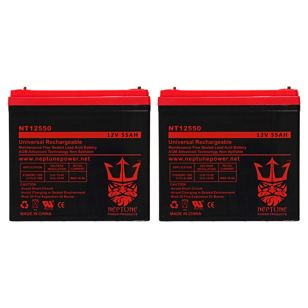 12v 55ah replacement battery for pride mobility