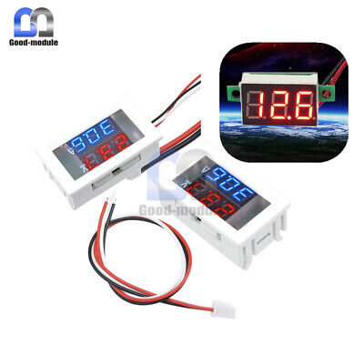 3-digital Dual Redblue Led Display Voltage Voltmeter Ammeter Meter 4-30v100v