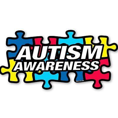 1 Autism Awareness Puzzle Piece Car Truck Bumper Magnet Refrigerator Decal New ](Autism Car Magnet)