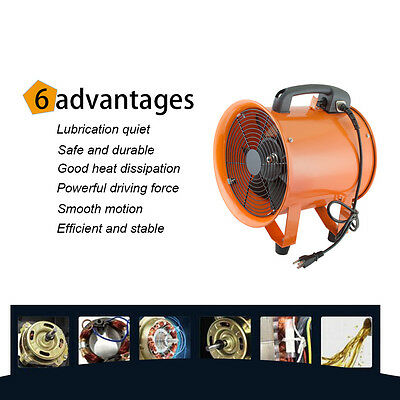 10 Exhaust Fan Blower Ventilator Extractor Duct Hose Ventilation Garage Home Us