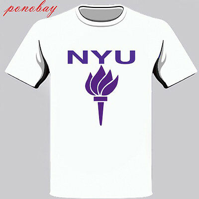 New York University Logo Symbol Mens White T Shirt Size S M L Xl 2Xl 3Xl