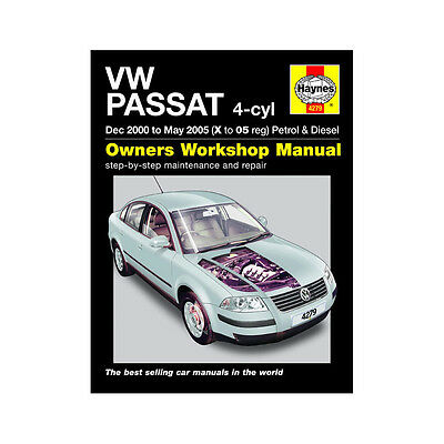 VW Passat 1.8 2.0 Petrol 1.9 Diesel 2000-05 (X to 05 Reg) Haynes Manual