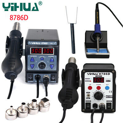 2 In 1 Yihua 8786d I Bga Rework Station Soldering Iron Hot Air Gun Repair Tools