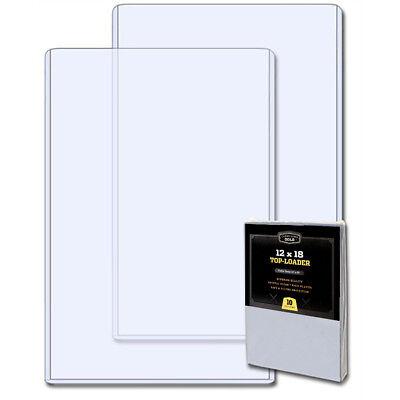 Pack 10 CBG 12x18 Hard Plastic Topload Photo / Print Holders 12 x 18 toploaders