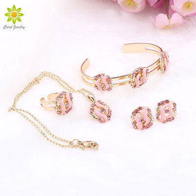 Best Gift 18K Gold Plated Necklace Earring Set /Children's Gift Jewelry For