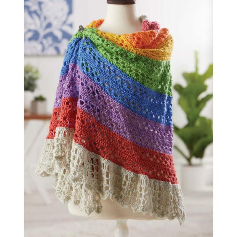 Herrschners® Graceful Blossoms Shawl Crochet Yarn Kit