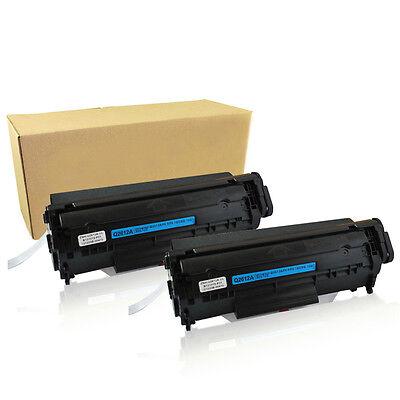 2PK Q2612A Toner Cartridge For HP 12A LaserJet 1012 1010 1018 1020 3030 3020