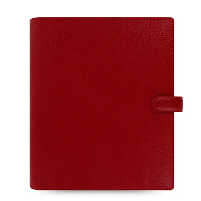 New Filofax A5 Finsbury Organiser Planner Diary Cherry Red Leather -022498