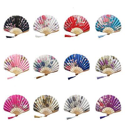 Lace Hand Fan Bamboo+Paper Dancing Fan Pocket Folding Fans (Lace Hand Fans)