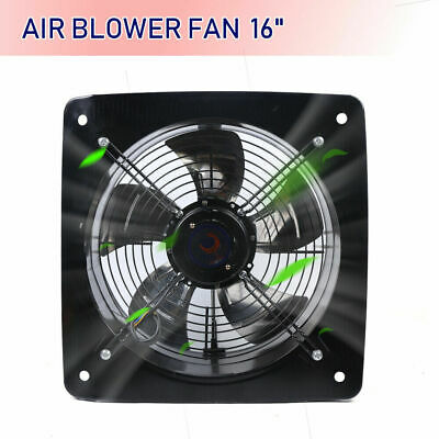 16inch Industrial Ventilation Extractor Metal Plate Fan Axial Exhaust Commercial