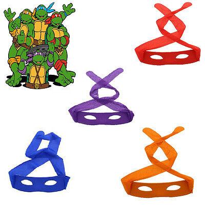 Kostüm Erwachsene Kinder Ninja Schildkröte Bandit Masken Zorro Dieb Maske Held ()