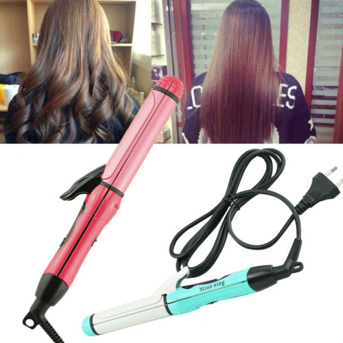 Professional 2 in 1 Curler & Straightener Hot Hair Iron Curl