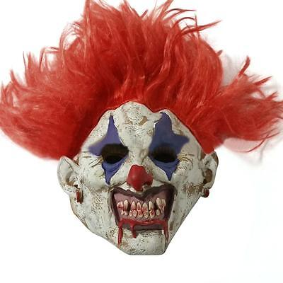 Latex Hair Clown Red Nose Halloween Mask Scary Horror Fancy Dress - Latex Clown Nose