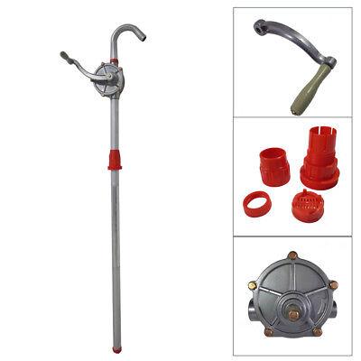 10 Gpm Priming Dispenser Fuel Hand Pump Hand Crank Aluminum Rotary Gas Oil 55gal