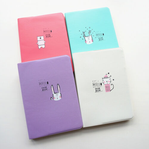 """""""Good Mood"""" 1pc Faux Leather Cute Weekly Monthly Planner Agenda Study Notebook"""