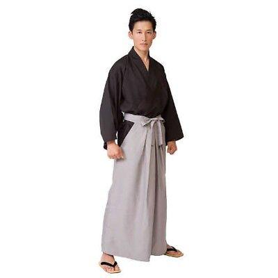 Japanese Men's Samurai Costume Jacket Hakama Set H180cm From Japan with Tracking