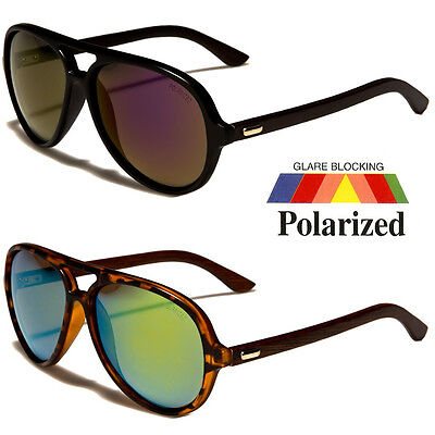 (New 80s Mens POLARIZED Vintage Classic Fashion Designer WOOD Aviator Sunglasses)