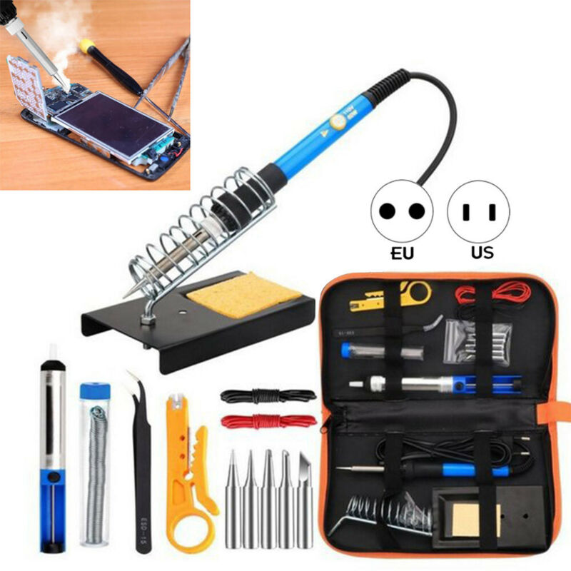 Soldering Iron Kit Electronics, 60W Adjustable Temperature W