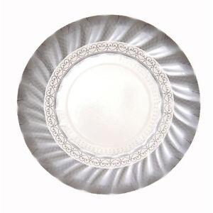 12 X Small Silver Paper Plates Silver Wedding 25th Anniversary Wedding Party Ebay