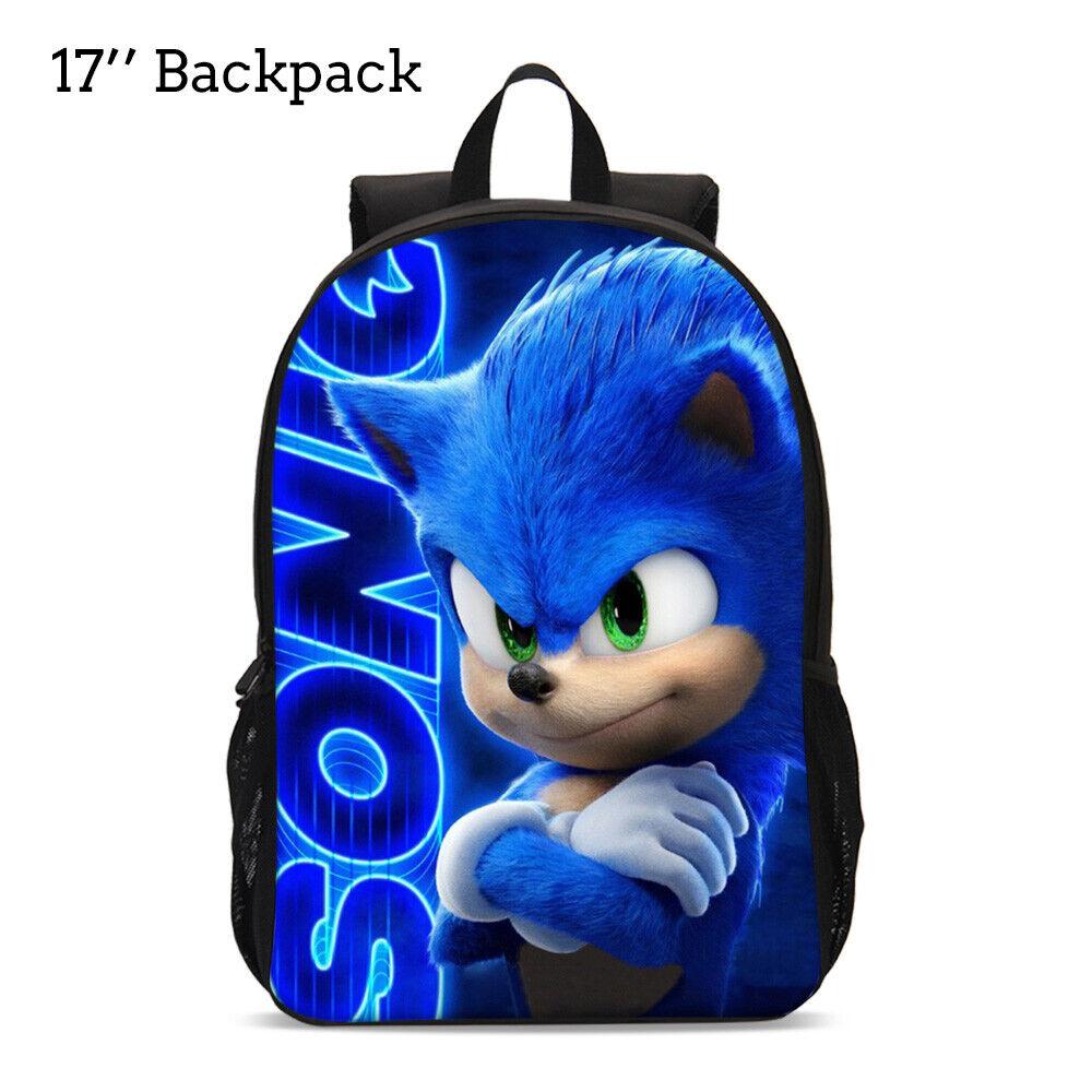 13 15 17 Sonic The Hedgehog School Bag Boys Girls Toddler Backpack Kids Gift Ebay