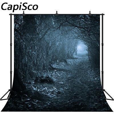 Dark Horrible Photography Backgrounds Forest Trail Halloween Theme Backdrops 817](Dark Halloween Backgrounds)