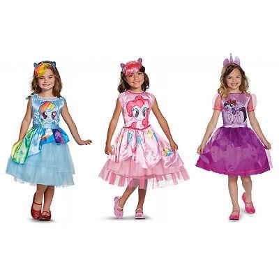 Girls Rainbow Costume (Rainbow Dash Costume Girls Dress Pinkie Pie My Little Pony Twilight)
