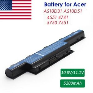 6 cell Battery For Acer Aspire 4741 5250 5741 5551 5733 5742Z 5750 Notebook