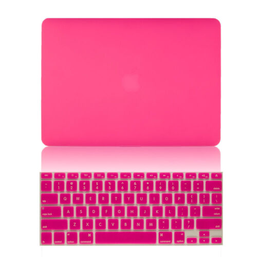 "Hard Rubberized Case + Keyboard Cover for Macbook Air Pro Retina 11"" 12"" 13"" 15"""