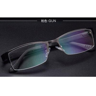 Trendy Reading Glasses 0/ADD +1.0 to +3.0 Varifocal Adaptive Lens Gun Half (Add Lenses To Frames)