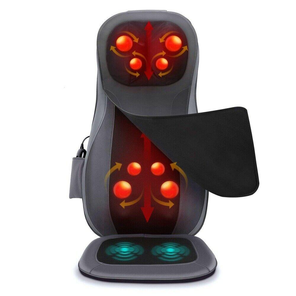 NAIPO Massagesitzauflage Shiatsu Rückenmassagegerät Massagematte elektrisch