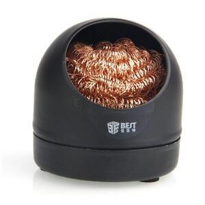 soldering iron tip cleaner brass sponge and holder solder wire spong ball bla. Black Bedroom Furniture Sets. Home Design Ideas