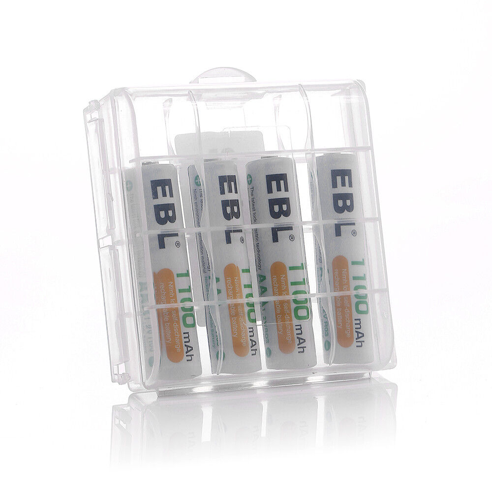 EBL Lot AA AAA Rechargeable Batteries NiMh 2800mAh 2300mAh 1100mAh 800mAh  Box
