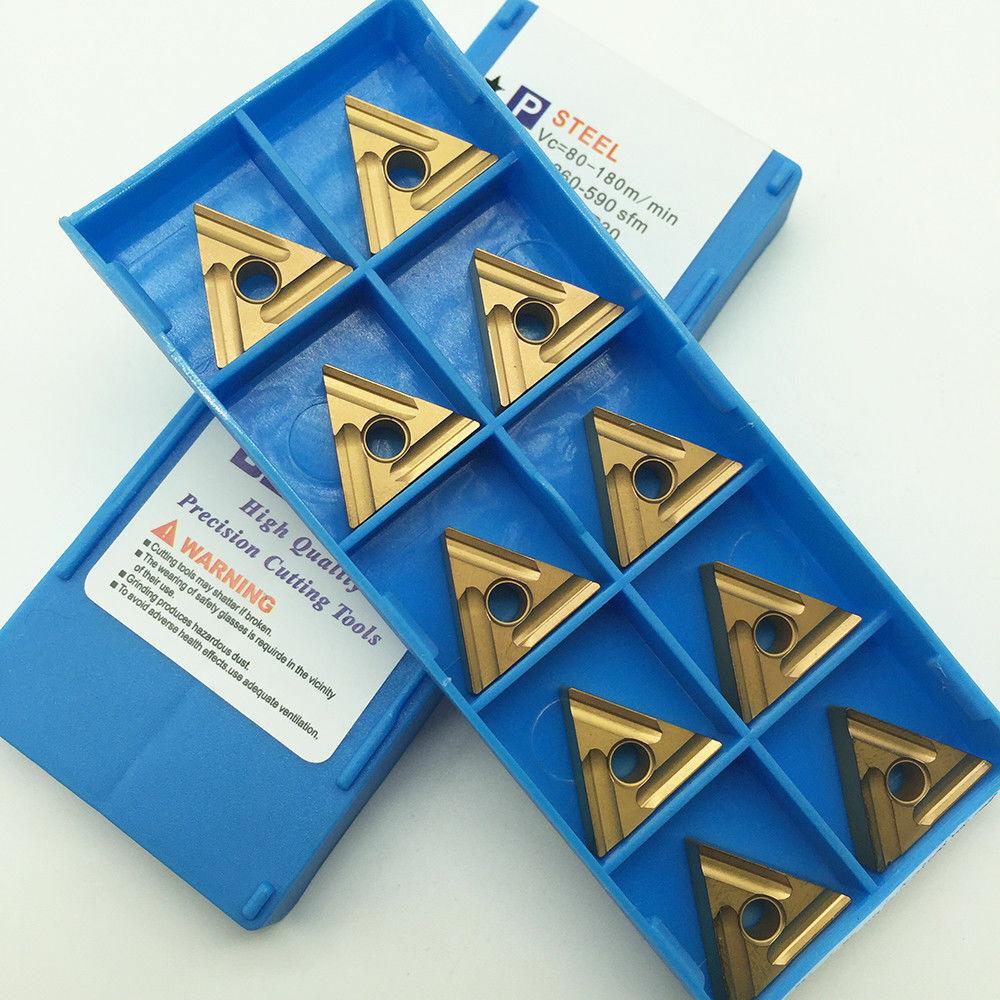 10Pcs TNMG160404L-S LF9011 TNMG331 CNC Slotting Carbide Inserts For Steel