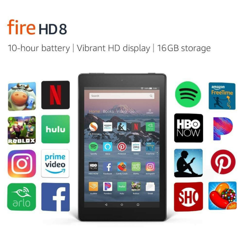 Amazon Kindle Fire 8 Tablet 16gb 8th Generation 2018 Release