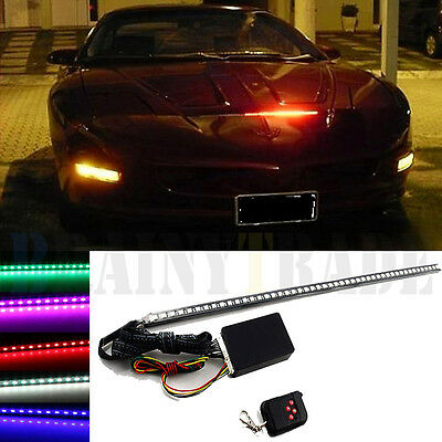 7 Color 48 LED RGB Scanner Flash Car Strobe Knight Rider Kit Light Strip 22 inch Knight Rider Scanner