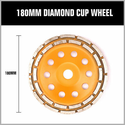 4.5 7 Diamond Cup Grinding Wheel Double Row Concrete 1828 Seg Angle Grinder