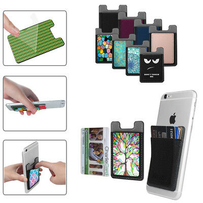 2 Cell X Phone - 2X Self Adhesive Credit Card Holder Wallet Pockets Case for Cell Phone Universal