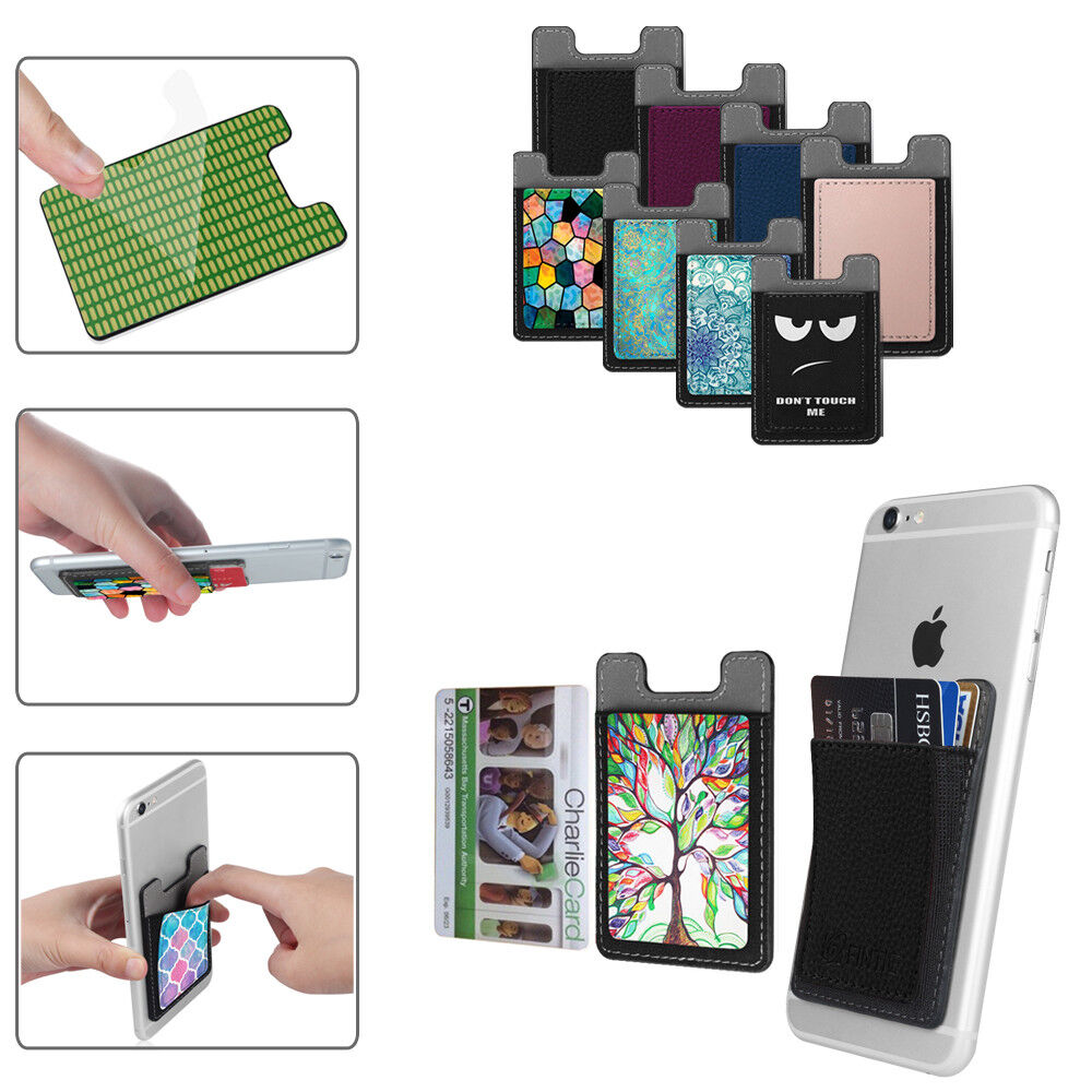 2X Self Adhesive Credit Card Holder Wallet Pockets Case for