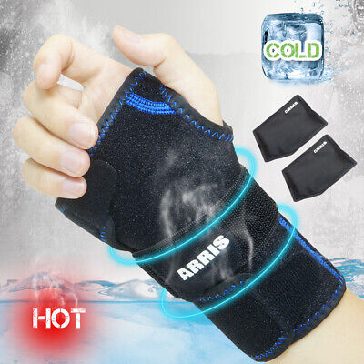 Wrist Ice Pack Wrap - Hand Support Brace with Reusable Gel Pack