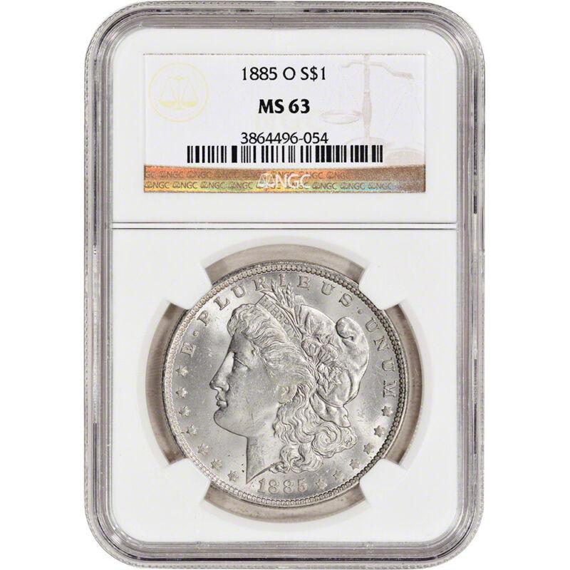1885-O US Morgan Silver Dollar S1 - NGC MS63