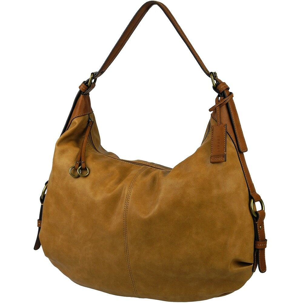 ESPRIT Damen Handtasche groß Schultertasche Tasche Paula Hobo Sack Ladys Bag NEU