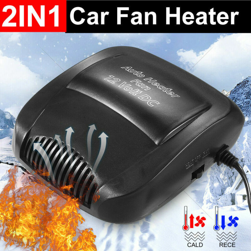 Electric Car Heater Truck Portable Auto Heating Cooling Fan Defroster Demister