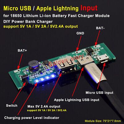 Lithium Li-ion 18650 Battery Charger Module Usb 5v 2a 18650 3.7v Diy Power Bank