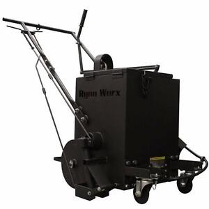 NEW RY 10 PROFESSIONAL ASPHALT CRACK FILLER MELTER APPLICATOR RYNO WORX Apply hot rubberized crack filler walking speed