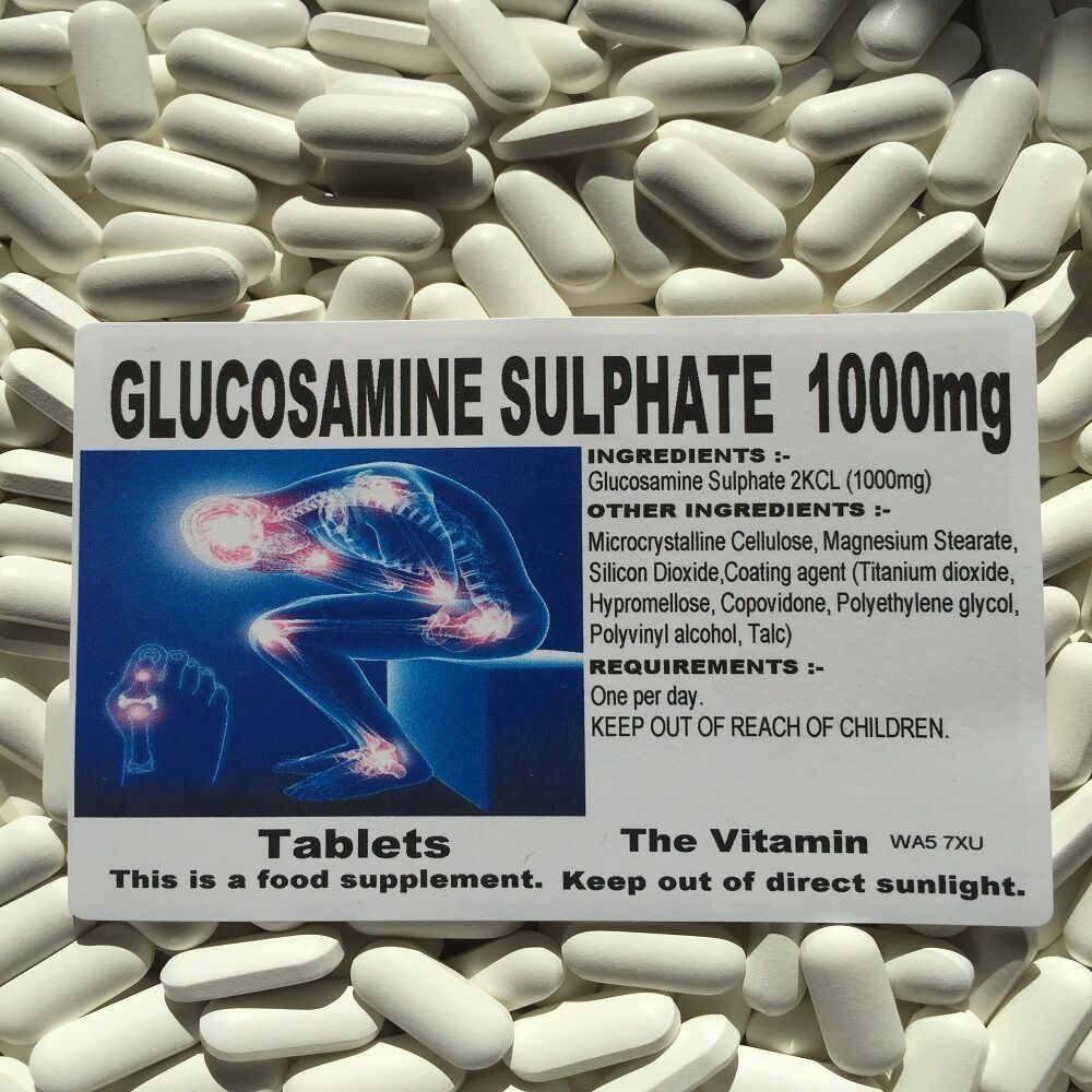 Glucosamine Sulphate 1000mg 365 Tablets Free P&p (L)