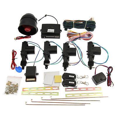 4 Door Power Central Lock Kit 2 Keyless Entry Car Remote Control   Alarm Siren