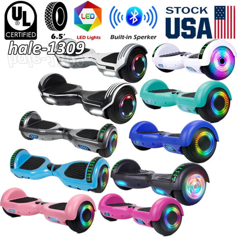 """6.5"""" Bluetooth Hoverboard Self Balancing Electric Scooter LED UL2272 no Bag USA"""