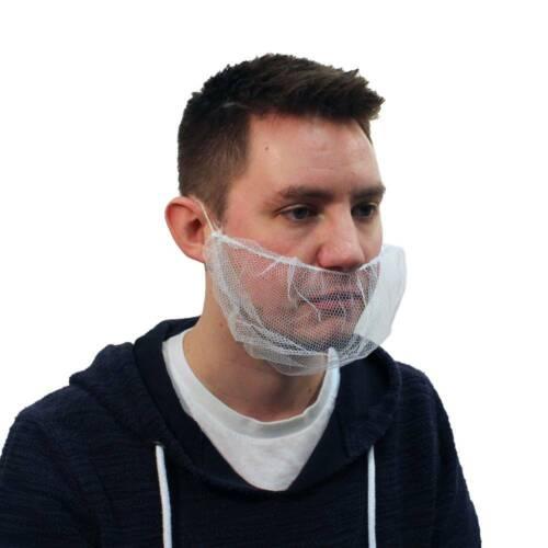 Malt White Nylon Honeycomb Pattern Beard Net, Bag of 100