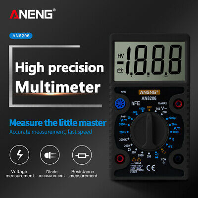 Aneng An8206 Mini Digital Multimeter Ampere Voltage Ohm Tester Multi Meter